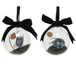 6 Boules de Noël Oeil & Visage