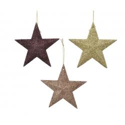 Assortment of hanging stars