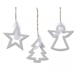 Wooden Christmas tree - angel - star