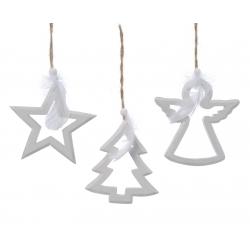 Arbre & Ange & Etoile de Noël en Bois