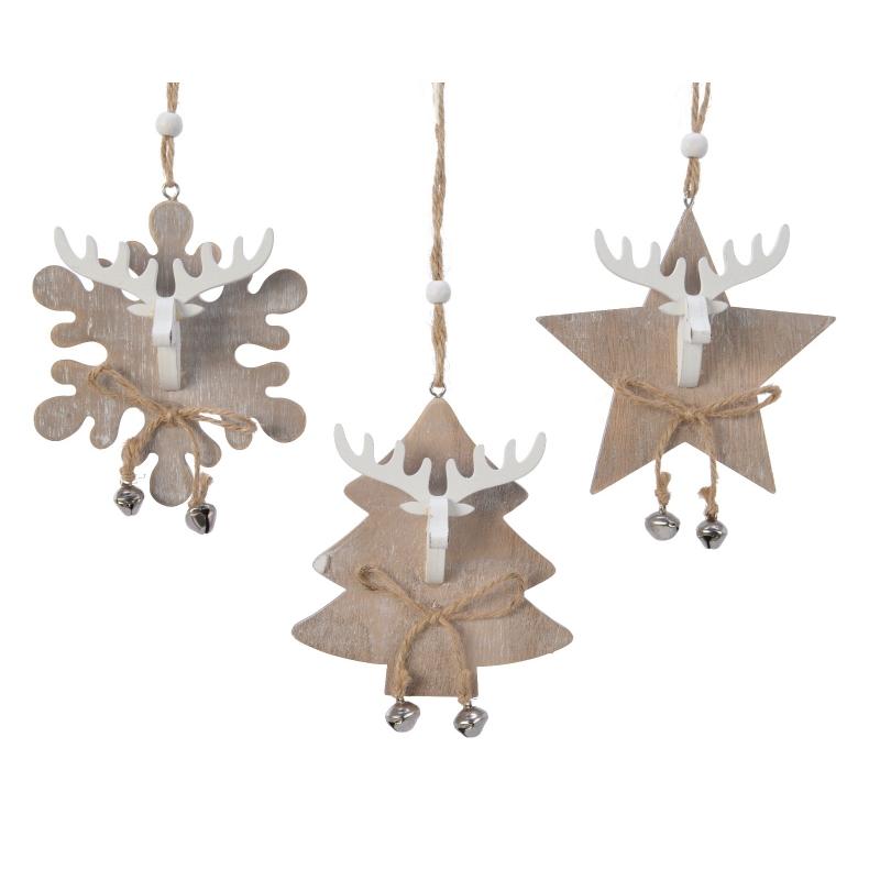 Arbre & Flocon & Etoile de Noël en Bois