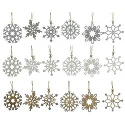 18 flocons de neige à paillettes