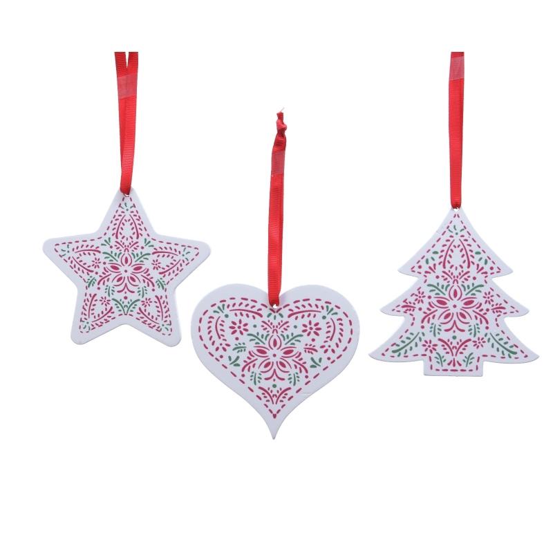 Arbre & Coeur & Etoile de Noël en Bois