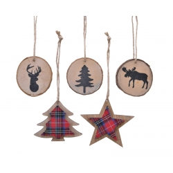 5 kerststerren & bomen & ronden in hout