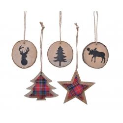 Ronds & Arbre & Etoile de Noël en Bois
