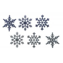 12 Flocons de Neige Bleu