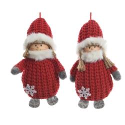 2 engelen met kerstmuts