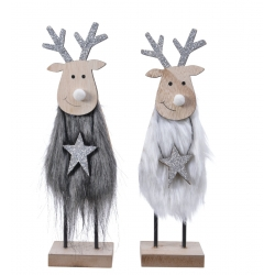 2 Christmas decorative reindeer