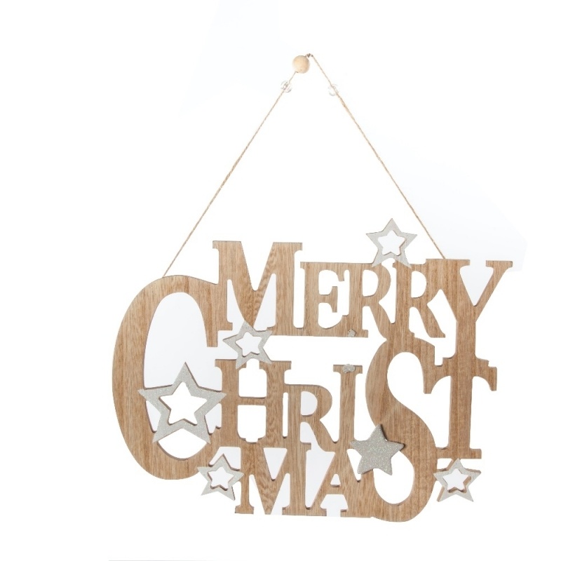 Suspension Merry Xmas en Bois