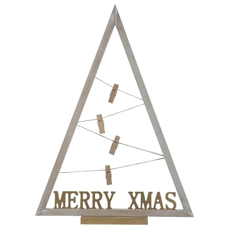 Sapin de Noël en Bois blanc Porte Photo