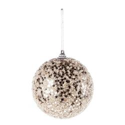 Boule de Noël champagne étoilée