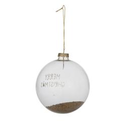 1 doorzichtige kerstbal