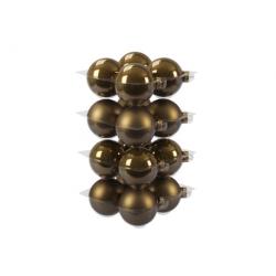 Boules de Noël Classic or foncé