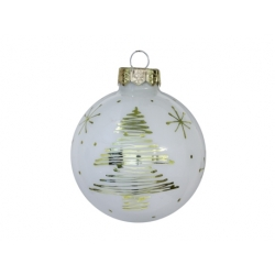 White deco gold Christmas bauble
