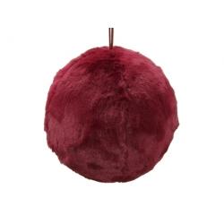 Boule rouge en fourrure