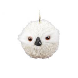 Hanging Owl in cream fur