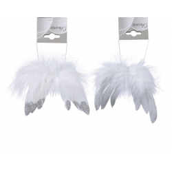 Hanging angel wings with glittery ends