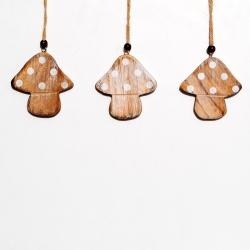 lot de 6 champignons en bois OLI