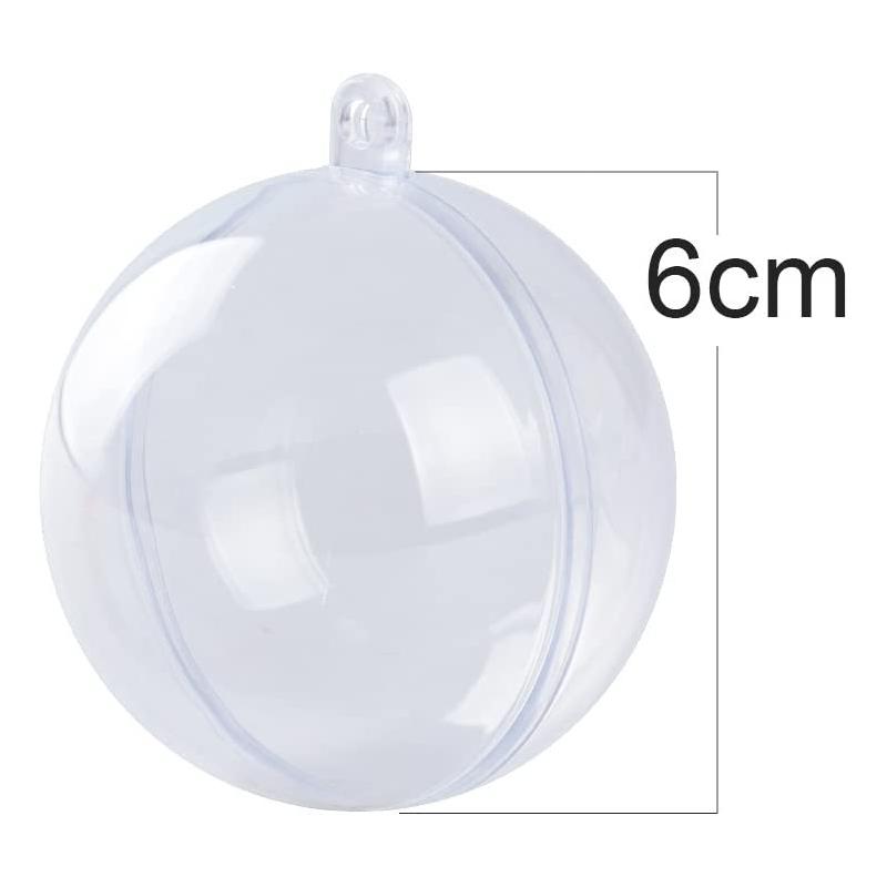 Lot de 4 boules 6cm transparente à assembler OLI