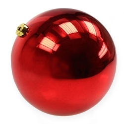 Red plastic bauble 12cm