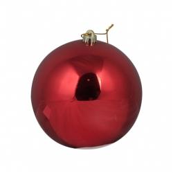 Red plastic bauble 14 cm