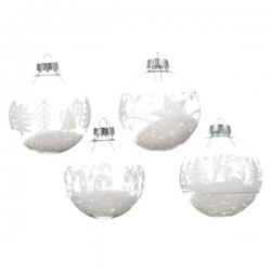 Boule en verre remplie de neige OLI
