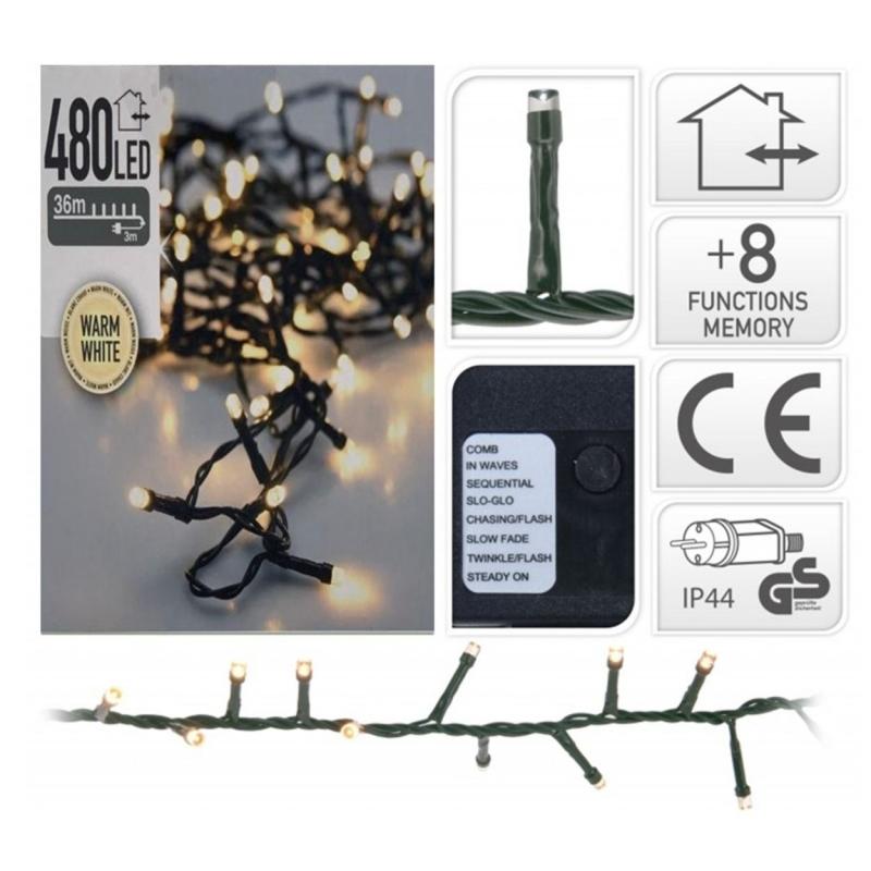 Lichtslinger 480 LED warm wit