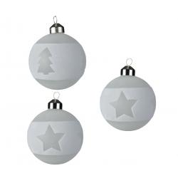 3 Boules de Noël Sapins et Etoile