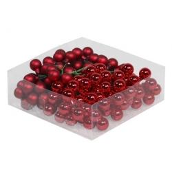 Boules de noël classiques rouge 2cm