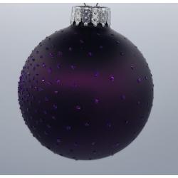 4 boules de Noël Mauve à brillant
