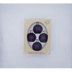 6 zilveren kerstballen