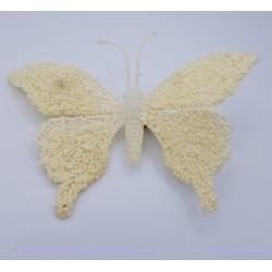 Papillon clair brillant à clip