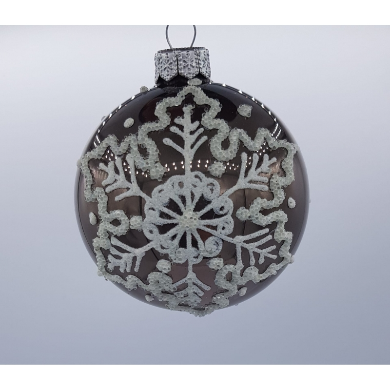 6 silver Christmas baubles