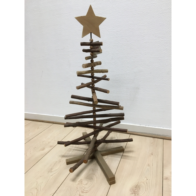 Pine tree with snow and star 62cm