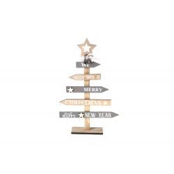 Houten kerstboom met pijlen...