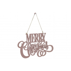 Hanging Merry Xmas in pale...