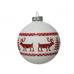 Kerstbal glas met rode...