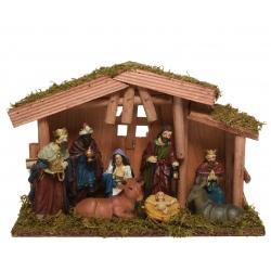 Kerststal 6 figuurtjes