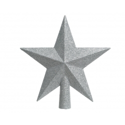 Silver star for Christmas tree
