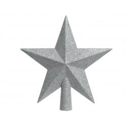 Zilveren ster voor kerstboom