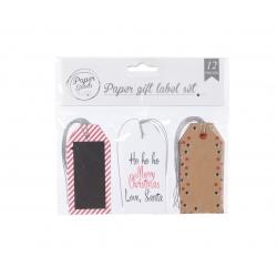Rode etiketten voor geschenken
