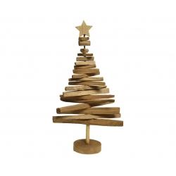 Sapin en bois avec étoile 60cm