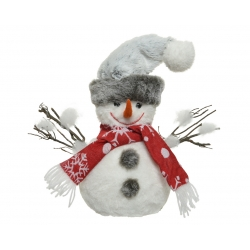 Red scarf snowman