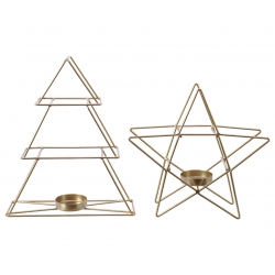 Star & tree candle holder