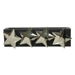 Silver star napkin ring