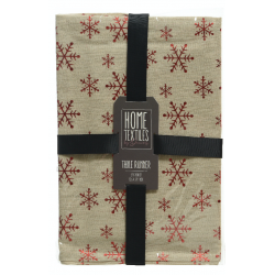 Table runner with snowflakes
