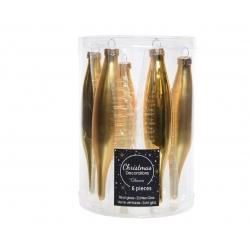 6 golden stalactites