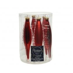 6 red stalactites