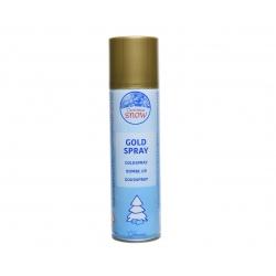 Artificial gold snow spray...