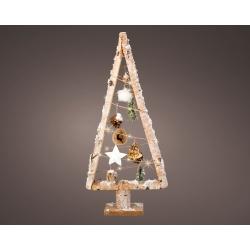 Houten kerstboom met LED